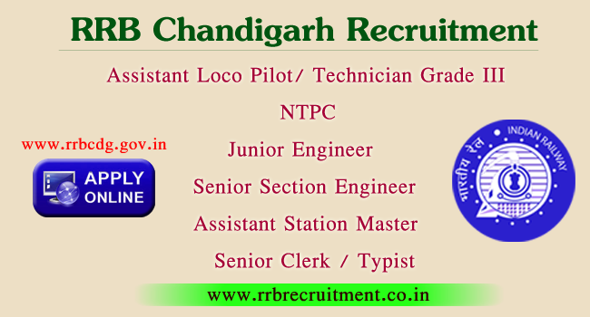 chandigarh rrb recruitment