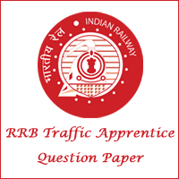 RRB Traffic Apprentice Question Paper