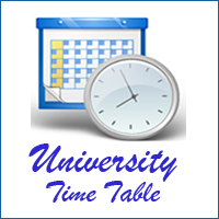 NMU Time Table