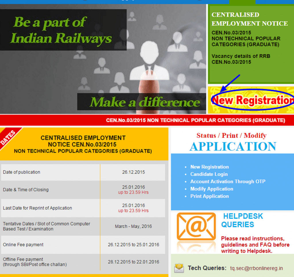 RRB NTPC Registration