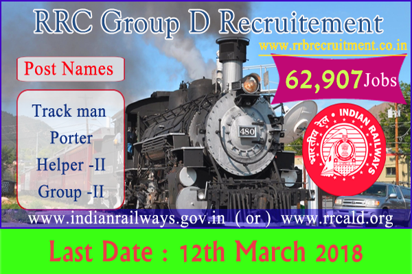 RRC Group D jobs