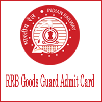 RRB Goods Guard Admit Card
