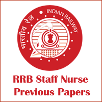 RRB Staff Nurse Previous Papers Image