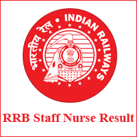 RRB Staff Nurse Result